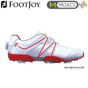 【17年モデル】フットジョイ メンズ ゴルフシューズ Mプロジェクト Boa (Men's) 55111 (ホワイト/レッド) FOOTJOY 横幅(ウィズ)/M(E) M PROJECT Boa|jngolf2010