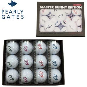 【2015年モデル】 パーリーゲイツ マスターバニーボール ホットスピンパフォーマンス ゴルフボール 1ダース(12球) PEARLY GATES MASTER BUNNY BALL|jngolf2010
