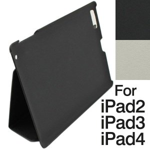 iPad2/iPad3/iPad4ケースカバーPUレザー風 スタンドタイプ|jnh