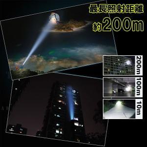 ハンディライト ハンドライト 防水ズーム LE...の詳細画像3