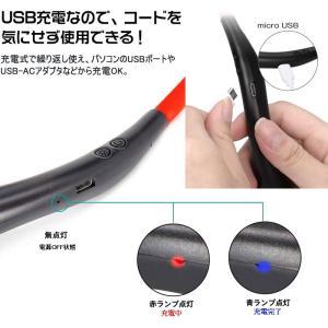 Point 10倍!首掛け扇風機 ポータブル扇風機 スポーツ用ファン LEDで光る 3段階風量調節 USB充電式 アロマ機能 熱中症対策 翌日配達・送料無料|jnh|11