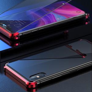 【新発売セール】iPhone XR iPhone 7 Plus/8 Plus/7/8 iPhone XS Max/X/XS 両面ガラスケース マグネット式 アルミ スマホケース ネコポス送料無料 翌日配達対応 jnh 18
