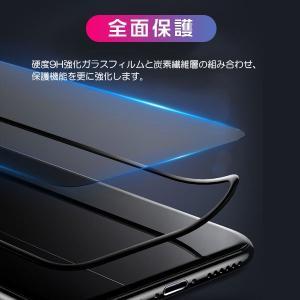 iPhone XR 6.1インチ 全面保護 強化ガラスフィルム カーボン 炭素繊維 液晶保護ガラスフィルム ネコポス送料無料 翌日配達対応 ポイント消化 ボーナスセール jnh 02