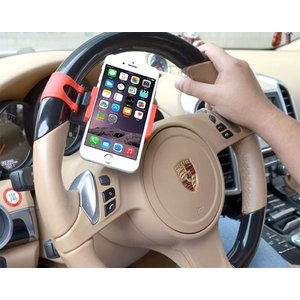 車載ホルダー ハンドルに固定 携帯ホルダー スマホホルダー 伸縮可能  iPhone スマートフォン ステアリング ハンドル 決算セール|jnh|04