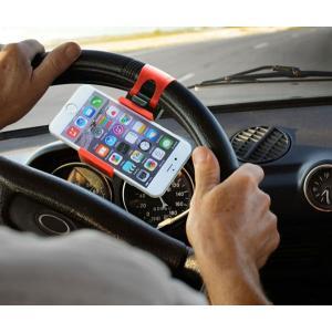 車載ホルダー ハンドルに固定 携帯ホルダー スマホホルダー 伸縮可能  iPhone スマートフォン ステアリング ハンドル 決算セール|jnh|06