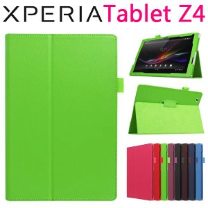 Sony Xperia Tablet Z4用 PUレザーケース 手帳タイプ カバー スタンドケース 2つ折り スダント|jnh