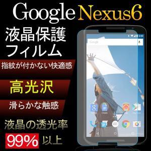 Google Nexus 6 用液晶保護フィルム 防指紋 高光沢フィルム
