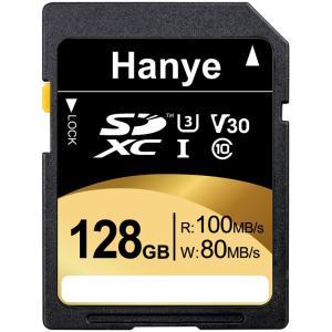 SDXCカード 128GB Hanye 超高速R:100MB/s W:80MB/s Class10 UHS-I U3 V30 4K Ultra HD対応 パッケージ品 ポイント消化【V】|jnh
