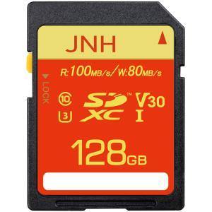 SDXCカード 128GB JNHブランド発売特価  超高速R:100MB/s W:80MB/s Class10 UHS-I U3 V30対応4K Ultra HD【国内正規品5年保証】ポイント消化 5のつく日|jnh