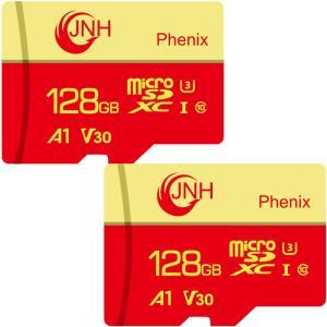 microSDXC 128GB JNHブランド【2個セット・翌日配達】超高速R:100MB/s W:80MB/s Class10 UHS-I U3 V30 4K Ultra HDアプリ最適化A1対応 【国内正規品5年保証】 jnh