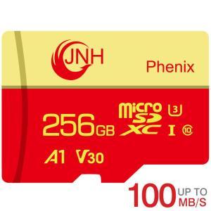 microSDXC 256GB JNHブランド 超高速 R:100MB/s W:80MB/s  Class10 UHS-I U3 V30 4K Ultra HDアプリ最適化A1対応 【国内正規品5年保証】 父の日 くらし応援|jnh