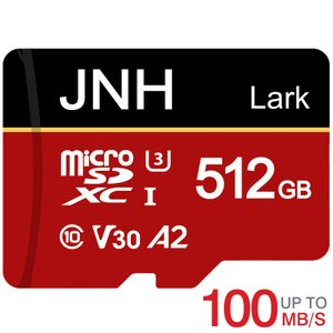 microSDXC 512GB JNHブランド 超高速 R:100MB/S  W:80MB/S  C...
