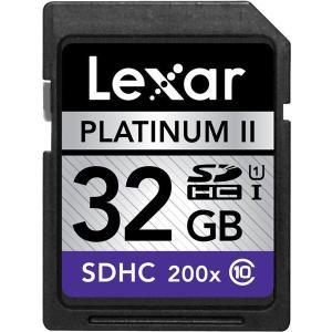 Lexar PlatinumII SDHC UHS-I カード 32GB class10 クラス10 200倍速 30MB/s 海外向けパッケージ品