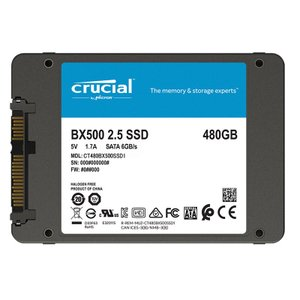 Crucial クルーシャル SSD 480GB BX500 SATA3 内蔵2.5インチ 7mm CT480BX500SSD1  グローバルパッケージ 【3年保証】MC8012BX500-480G|jnh|11