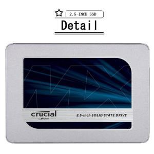 Crucial クルーシャルSSD 500GB 2.5インチCT500MX500SSD1 7mm SATA3内蔵SSD 7mmから9.5mmへの変換スペーサー付属 5年保証・翌日配達|jnh|13
