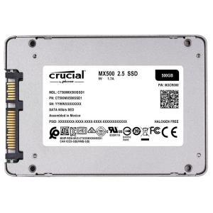 Crucial クルーシャルSSD 500GB 2.5インチCT500MX500SSD1 7mm SATA3内蔵SSD 7mmから9.5mmへの変換スペーサー付属 5年保証・翌日配達|jnh|15