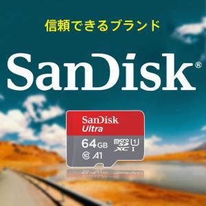 microSDXC 64GB SanDisk サンディスク 100MB/秒 アプリ最適化 A1対応 UHS-1 U1  海外パッケージ品SA3309QUAR-NA キャッシュレス5%還元対象店|jnh|02