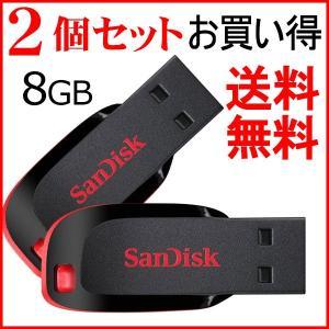 2個セットお買得 USBメモリ 8GB SDCZ50-008G サンディスク Sandisk  超mini 高速 海外向けパッケージ品ホワイト/黒/ブルー|jnh