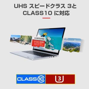 microSDXC 128GB SAMSUNG サムスン Class10 U3 4K対応 R:100MB/s W:90MB/s UHS-I EVO Plus SDアダプター付 海外パッケージ SM3310MC128GACN|jnh|04