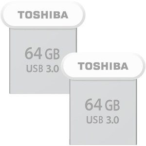 USBメモリ64GB 東芝【2個セットお買得・翌日配達】 TOSHIBA USB3.0 TransMemory  R:120MB/s 超小型サイズ 海外パッケージ品|jnh