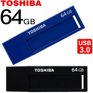 TOSHIBA USBメモリー 64GB TransMemory USB3.0 V3DCH-064G  海外パッケージ品