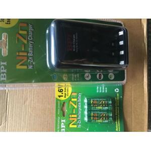 単4充電池 4本 +急速充電器 セット 強力 NiZn 1.6V|jobell