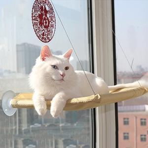 猫ハンモック ペットベッド キャット用 吸盤タイプ 取り付け簡単 窓台 猫へのプレゼント 約20kg程度