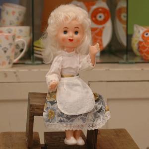 ヴィンテージ人形 白い髪の女の子|johnnyjumpup