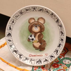 ビンテージ絵皿 こぐまのミーシャ サッカー|johnnyjumpup