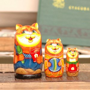 マトリョーシカ ネコの兄弟|johnnyjumpup