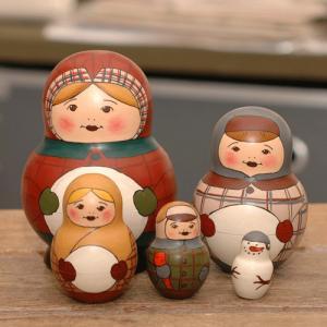 マトリョーシカ バカーノワ 冬の子供|johnnyjumpup