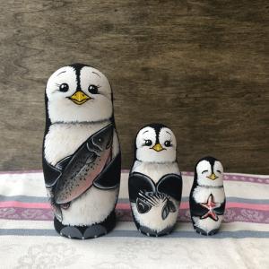 マトリョーシカ ペンギン コブロフ工房 オレイシア|johnnyjumpup