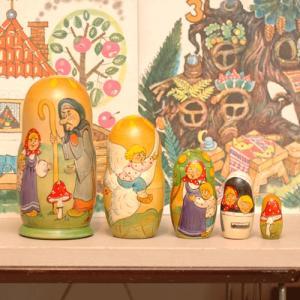 コブロフ工房 マトリョーシカ バーバヤーガと白い鳥|johnnyjumpup