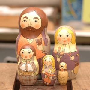マトリョーシカ メドベーデワ お父さんと家族|johnnyjumpup