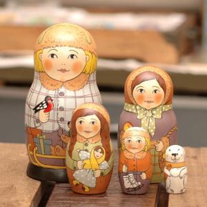 マトリョーシカ メドベーデワ 冬の子供たち johnnyjumpup