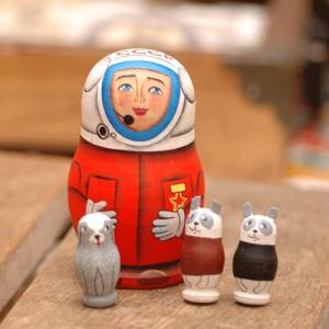 マトリョーシカ 宇宙飛行士 二キーティン工房ミニ1|johnnyjumpup