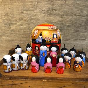 雛人形 マトリョーシカ 二キーティン工房 ひな祭り|johnnyjumpup