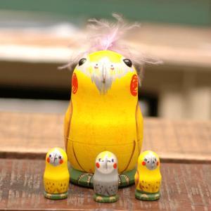 マトリョーシカ オカメインコ(黄色) 二キーティン工房|johnnyjumpup