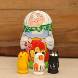 マトリョーシカ おばあちゃん1 二キーティン工房|johnnyjumpup