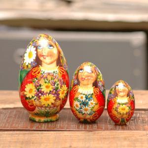 マトリョーシカ 卵型 お花|johnnyjumpup