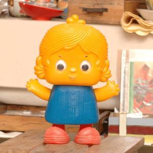 ヴィンテージ ソフビ人形 きょろきょろ坊や|johnnyjumpup
