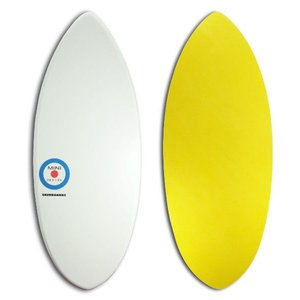 【日本製】MINI DESIGN スキムボード A3D-102 WHITE or-YELLOW/125cm|johns