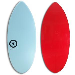 【日本製】MINI DESIGN スキムボード 402-WaterBLUE/ RED 122cm|johns