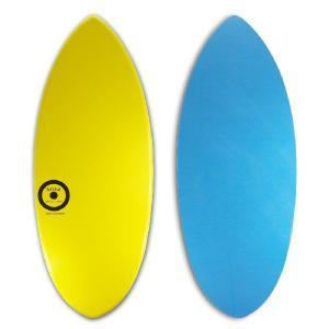 【日本製】MINI DESIGN スキムボード MINI 720 YELLOW-BLUE 122cm|johns