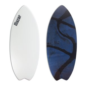 MAZARスキムボード BASIC+FISH 131.5cm WHITE-Art【日本製】 johns