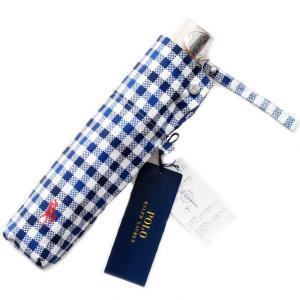 持ち手はウッド調にブランドプレート、しっかりとした作りが魅力の お洒落なラルフローレンの折畳み傘です...