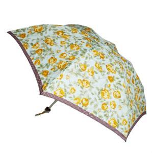 コンパクトで軽量 UVカットされた晴雨兼用 可憐なオールドローズ ふんわり花柄のお洒落なラルフローレ...