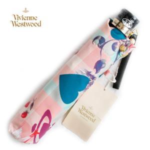 ヴィヴィアンウエストウッド 傘 雨傘 折畳み傘 ハート オーヴ スワン タータンチェック ピンク 新品