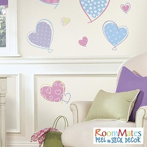 ウォールステッカー シール式 子供部屋 キッチン 壁 窓 ドア ガラス 北欧 おしゃれ RoomMates(ルームメイツ) ハート|jonan-interior