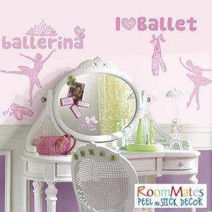 ウォールステッカー シール式 子供部屋 キッチン 壁 窓 ドア ガラス 北欧 おしゃれ RoomMates(ルームメイツ) バレエ|jonan-interior